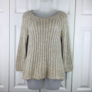 Anthropologie Knitted Knotted Squenced Pullover